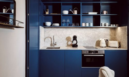 Kitchen-dark-blue-the-studio-Loft-21-Frederick-Street-Valletta